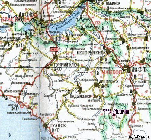 грибные места краснодарского края на карте Под Новый